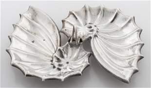 "Reed & Barton ""Nautilus"" Silver Serving Dish"