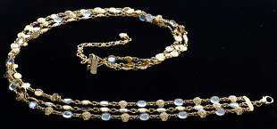 Gianni Versace Medusa-Link & Faux Jewel Belt