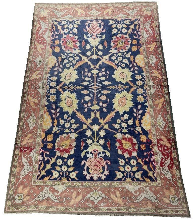 "Indian Cotton Agra Carpet 8' 9"" x 5' 9"""