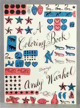 Andy Warhol Vintage Large Format Coloring Book