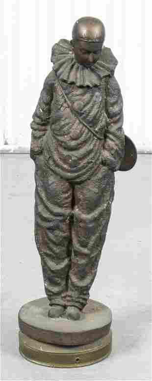 Cast Iron Model of a Harlequin Clown