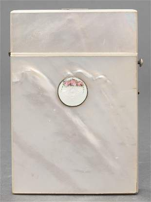 Victorian Mother-of-Pearl & Enamel Card Case