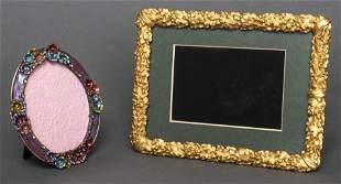 Ruccini Enamel Floral & Gold Tone Foliate Frames 2