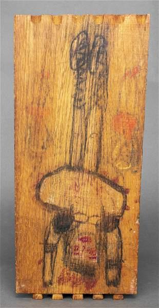 Folk Art Double sided Panel drawing