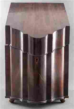 George III Carved Mahogany Knife Box