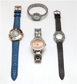 Ladies Designer Wristwatches, Group of 4