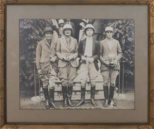 19th C. Photograph, Portrait of Equestrian Team