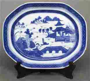 """Mottahedeh """"Blue Canton"""" Porcelain Platter"""