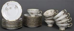 Heinrich Selb Gilt Decorated Porcelain Plates, 29