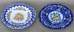 Alcobaca Portugal Faience Charger Platters, 2