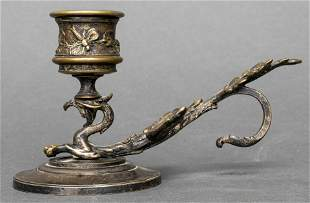 Art Nouveau Griffin Candle Holder Chamber Stick