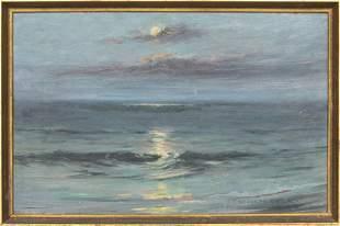 """J. Theodore Howe """"Ocean"""" Oil on Panel"""