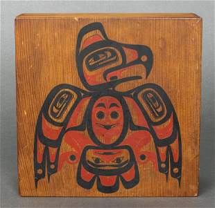 Pacific Northwest Native American Hand Painted Box