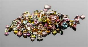 32.2 Cttw. Loose Multi-Colored Tourmaline Stones