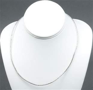 Milor Italian 14K White Gold Diamond-Cut Necklace