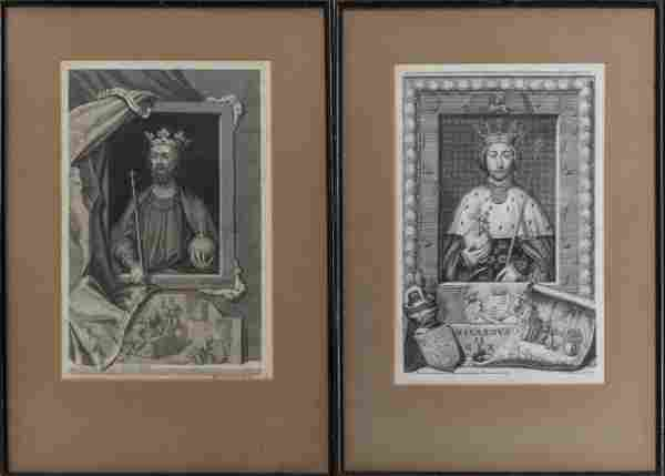 18th C. Portrait of Various English Kings, 2
