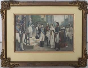 Napoleon Josephine Wedding or Coronation Print