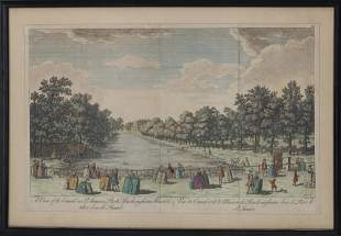 """After Canaletto, """"A View of the Canal.."""" Engraving"""