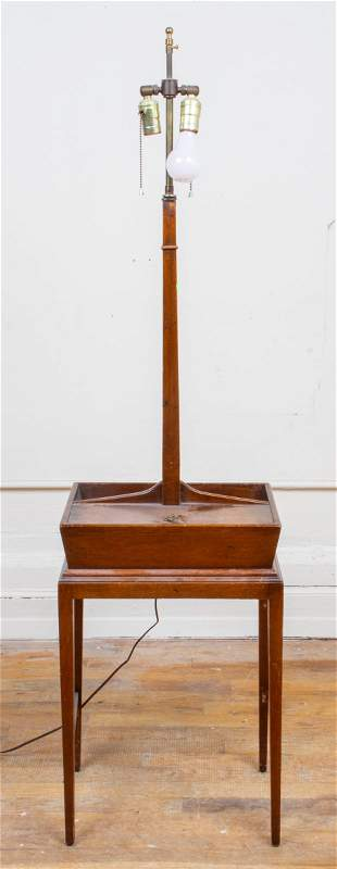 George III Style Mahogany Lamp Table