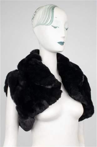 Black Rabbit Fur Bolero Vest