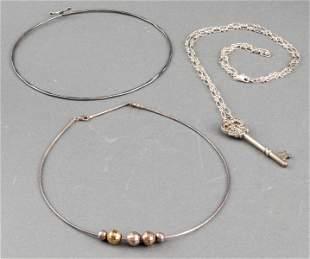 Finola & Milor Vintage Designer Silver Necklaces