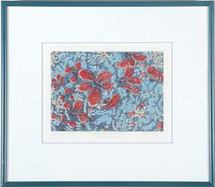 "Signed ""Tundra Heath"" Botanical Watercolor"