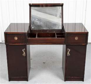 Modern Lacquered Wood Vanity Desk