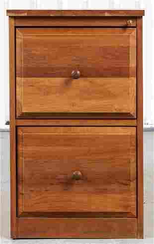 Modern Oak Two Drawer File Cabinet