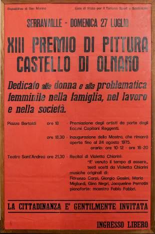 """Italian """"Premio Di Pittura"""" Poster, 1975"""