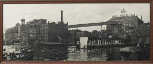 1930s Photograph of Dutch Industrial Waterfront
