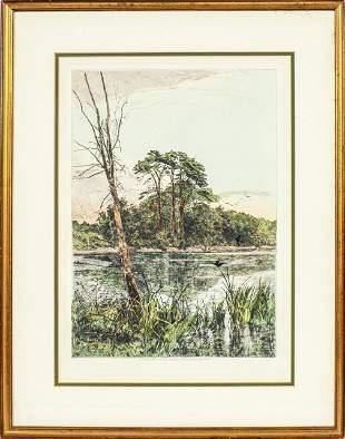 Landscape Etching Published by Robert Dunthorne