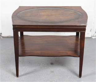 George III Style Leather Top Mahogany Table