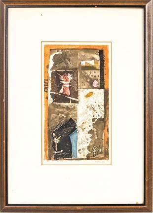 Jose Ortega Abstract Composition Aquatint Etching