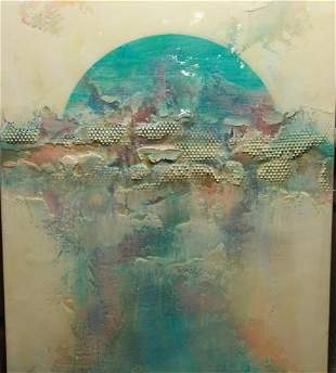 Salvatore Scalisi, Abstract Triptych, Mixed Media