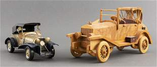 Handcrafted Vintage Toy / Model Cars, 2 PCS