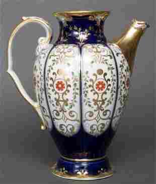 KPM German Gilt Floral Porcelain Pitcher