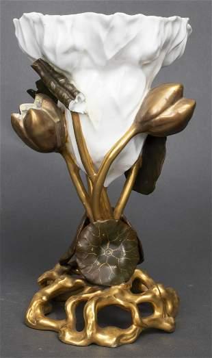 Moore Bros. English Staffordshire Porcelain Vase
