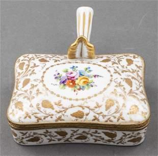 Le Tallec Hand-Painted Porcelain Silent Butler