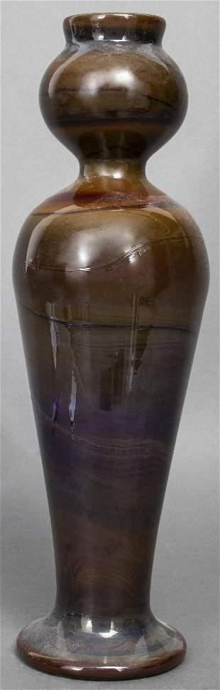 Art Nouveau Glazed Ceramic Art Pottery Vase