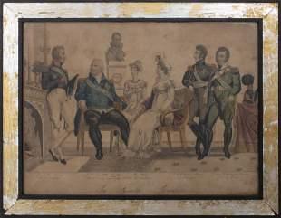 """Gautier, """"La Famille Royale"""" Engraving"""