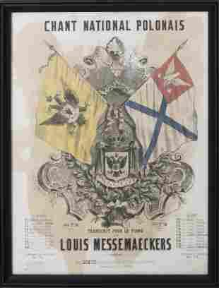 Framed Vintage French Lithograph Concert Poster