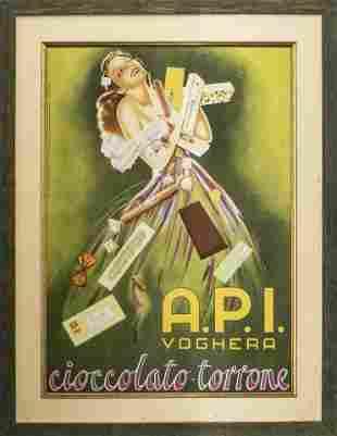Italian Mid Century Chocolate Advertisement Poster