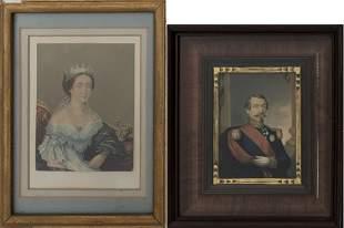 Napoleon III and Empress Eugenie Engravings, 2