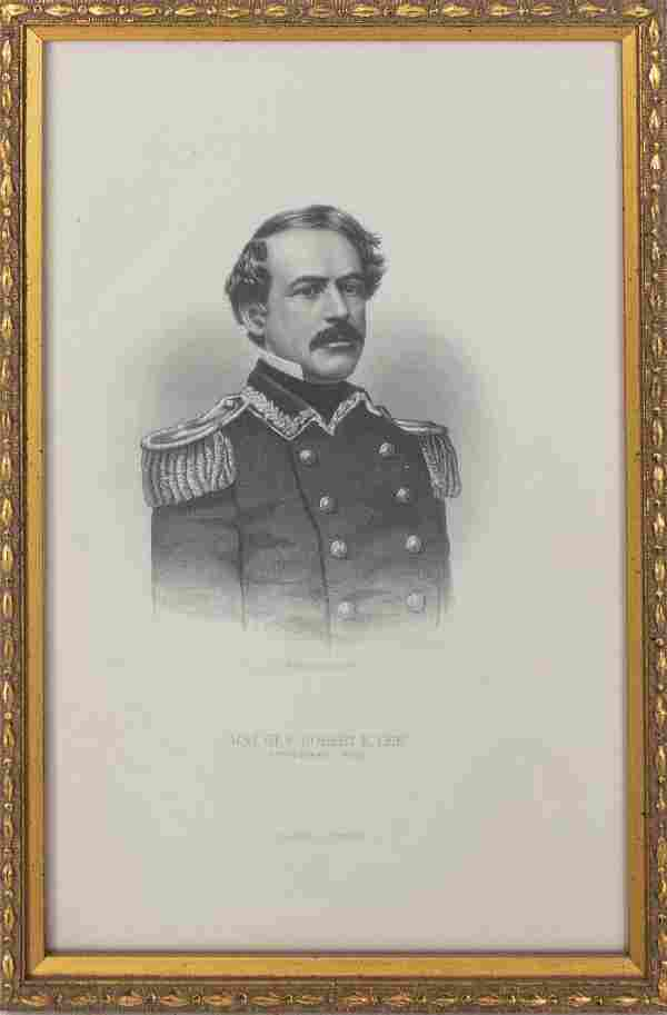 """A.H. Ritchie, """"Maj. Gen. Robert E. Lee."""" Engraving"""