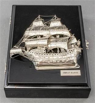 Maritime Nautical Black Lacquer Key Lock Box