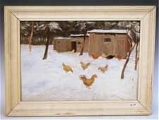 Dvorik  Watercolor by Samouil Lindine 1988
