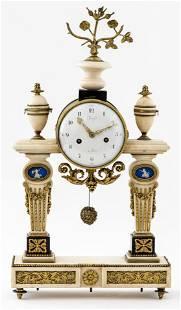 Thiery Louis XVI Gilt Bronze Marble Mantel Clock