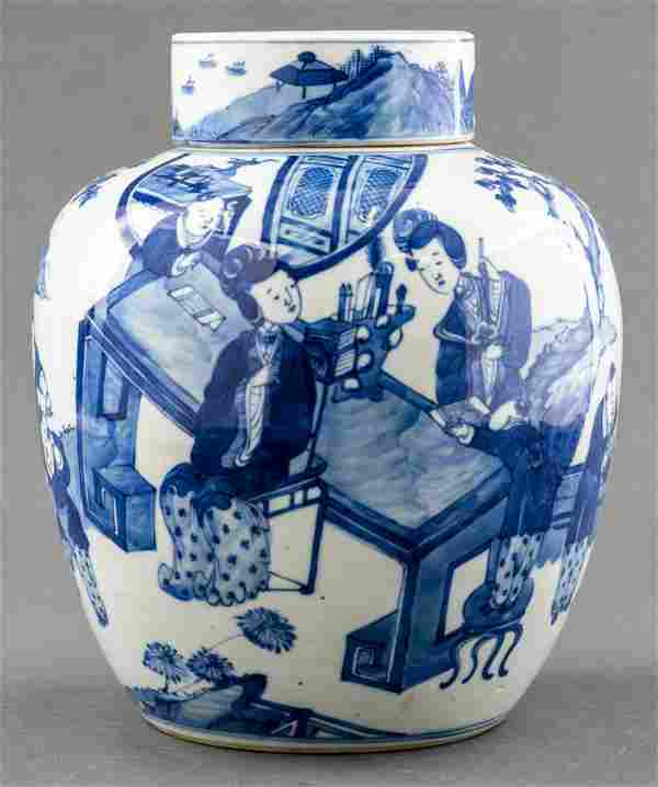 Chinese Kangxi Porcelain Ginger Jar, Kangxi