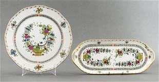 Herend 'Indian Basket' Porcelain Serving Platters