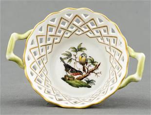 Herend 'Rothschild Bird' Porcelain Basket